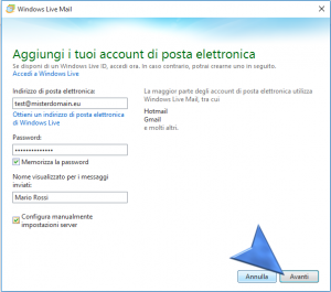 Configurazione Windows Live Mail