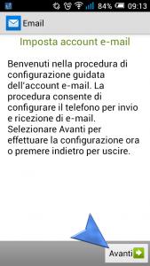 Configurazione account di posta Android Mail