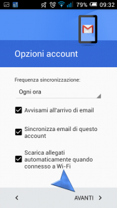Configurazione account di posta G-Mail